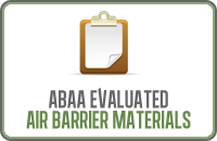 Abaa Evaluated Air Barrier Materials