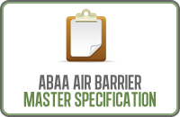 Abaa Air Barrier Master Specification